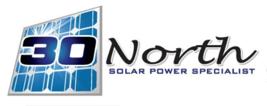 30 North solar power specialist
